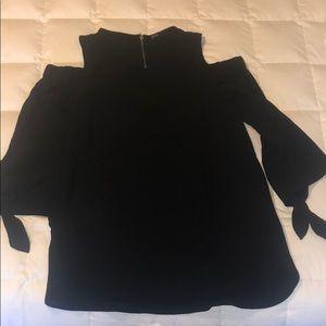 Cold shoulder black blouse
